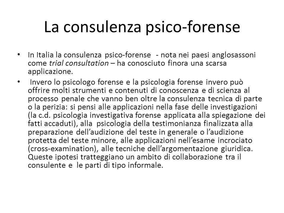 La consulenza psico-forense