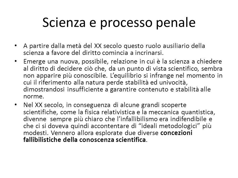 Scienza e processo penale