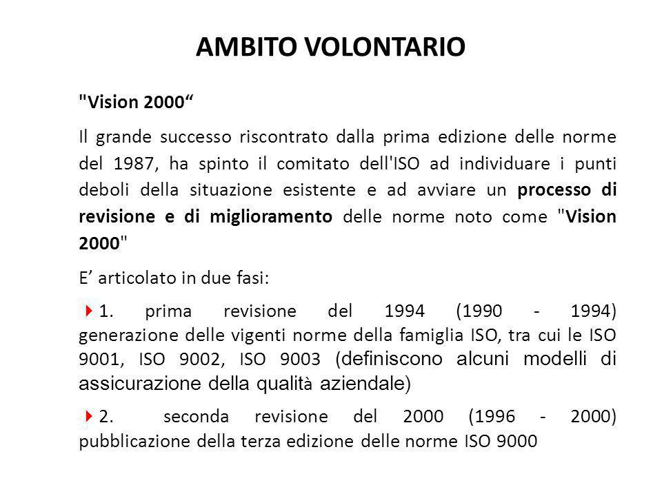 AMBITO VOLONTARIO Vision 2000