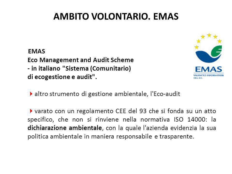 AMBITO VOLONTARIO. EMAS