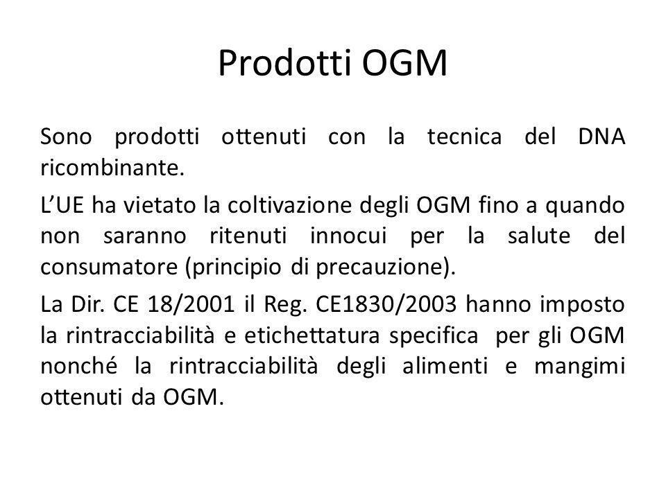 Prodotti OGM