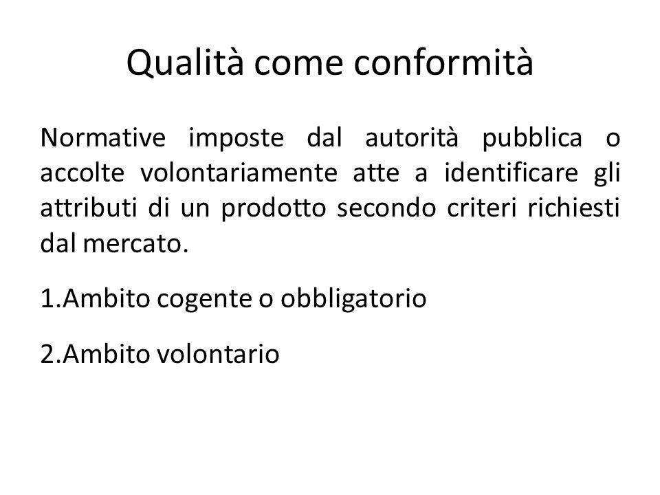 Qualità come conformità