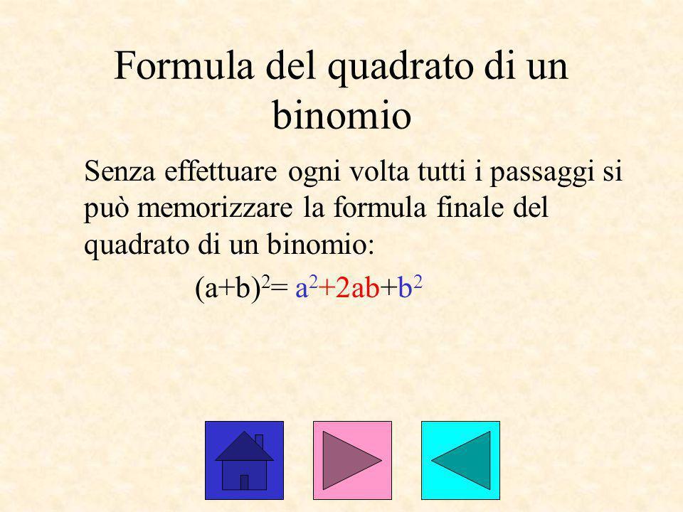 Formula del quadrato di un binomio