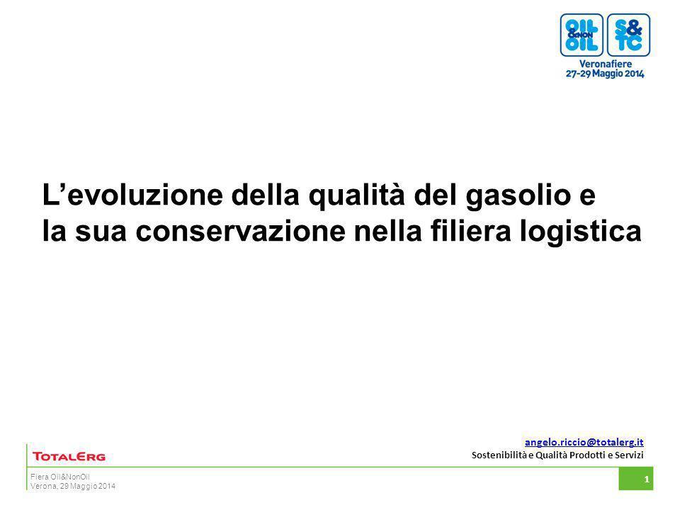 L'evoluzione della qualità del gasolio e