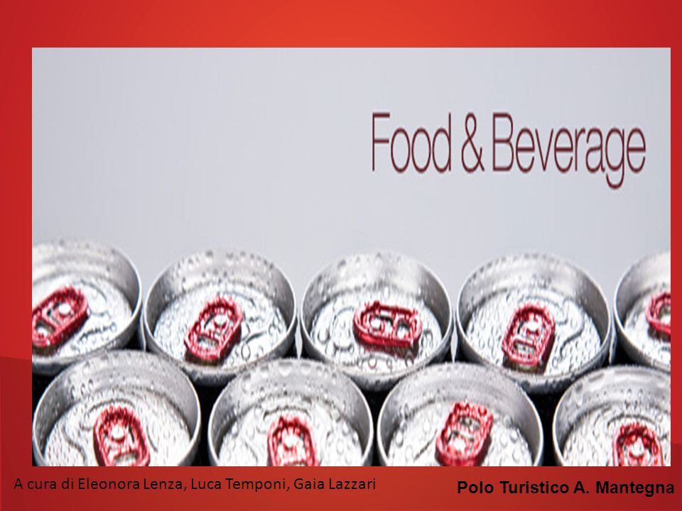 I prodotti food & beverage