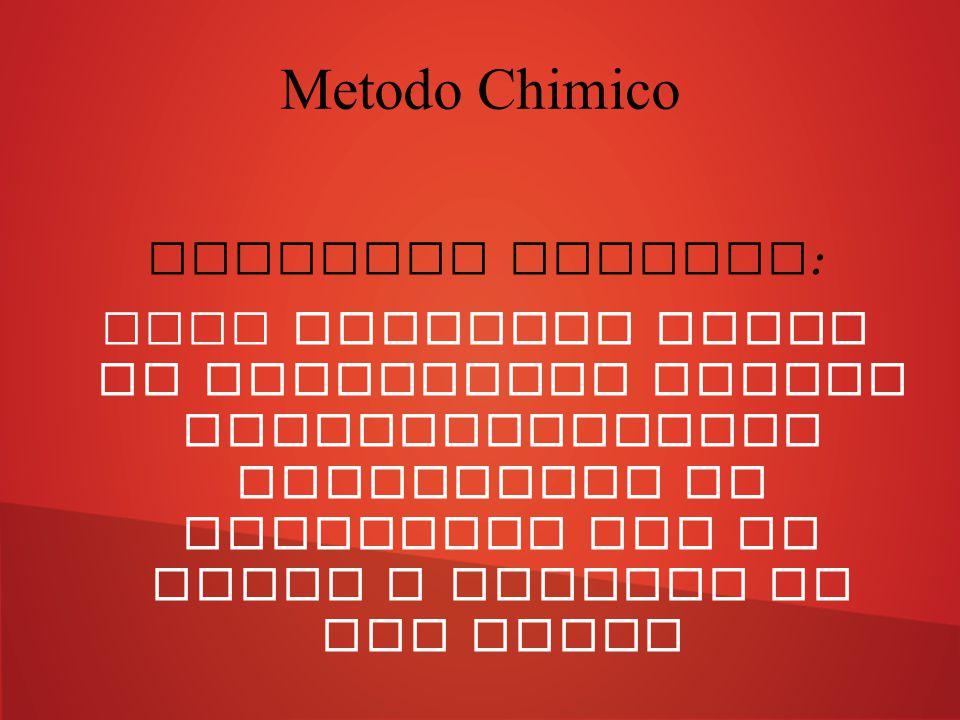 Metodo Chimico Additivi chimici: