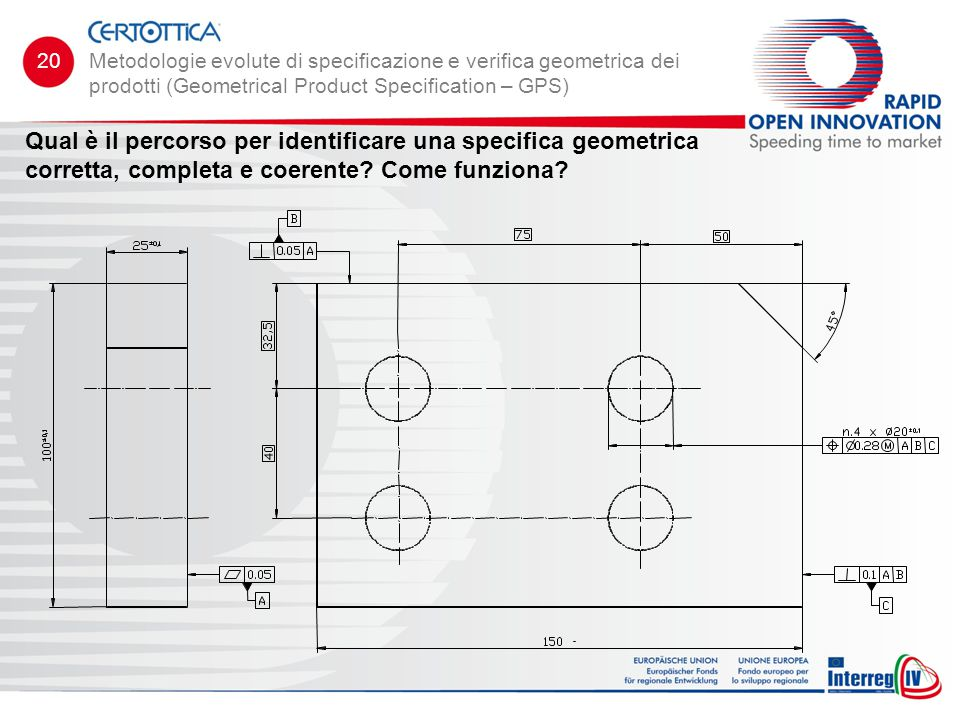 20 Metodologie evolute di specificazione e verifica geometrica dei prodotti (Geometrical Product Specification – GPS)