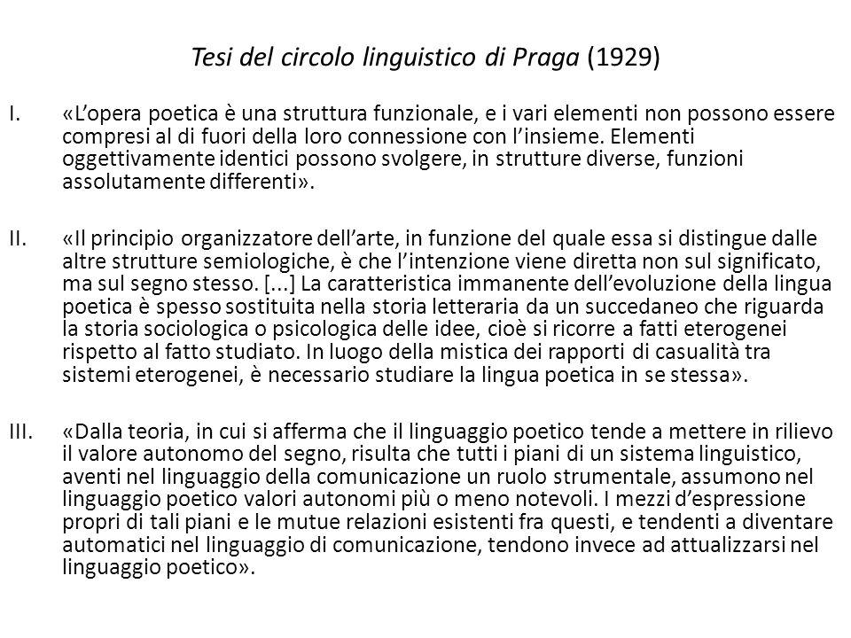 Tesi del circolo linguistico di Praga (1929)