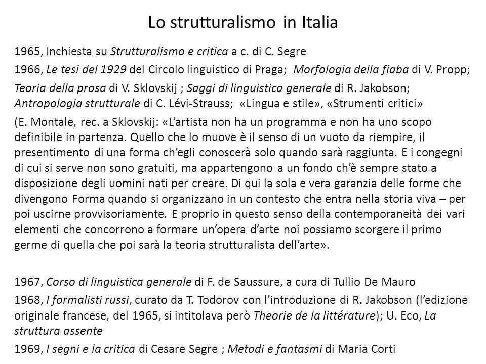 Lo strutturalismo in Italia