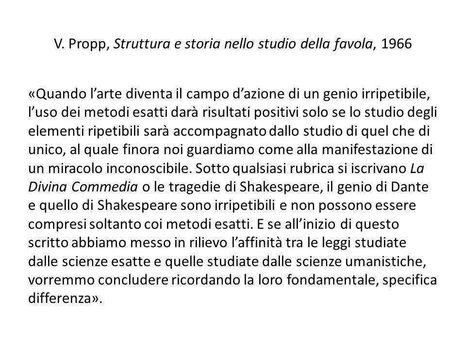 V. Propp, Struttura e storia nello studio della favola, 1966