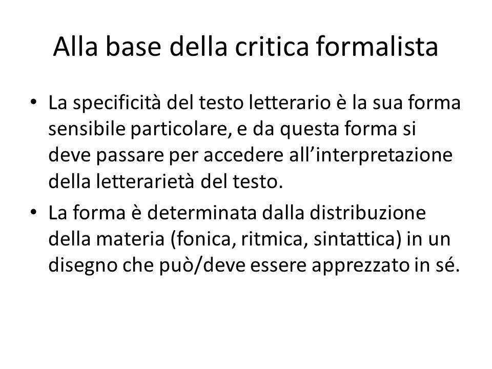 Alla base della critica formalista