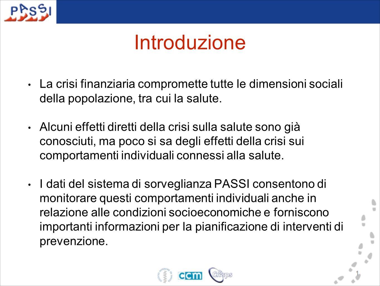 Introduzione La crisi finanziaria compromette tutte le dimensioni sociali della popolazione, tra cui la salute.