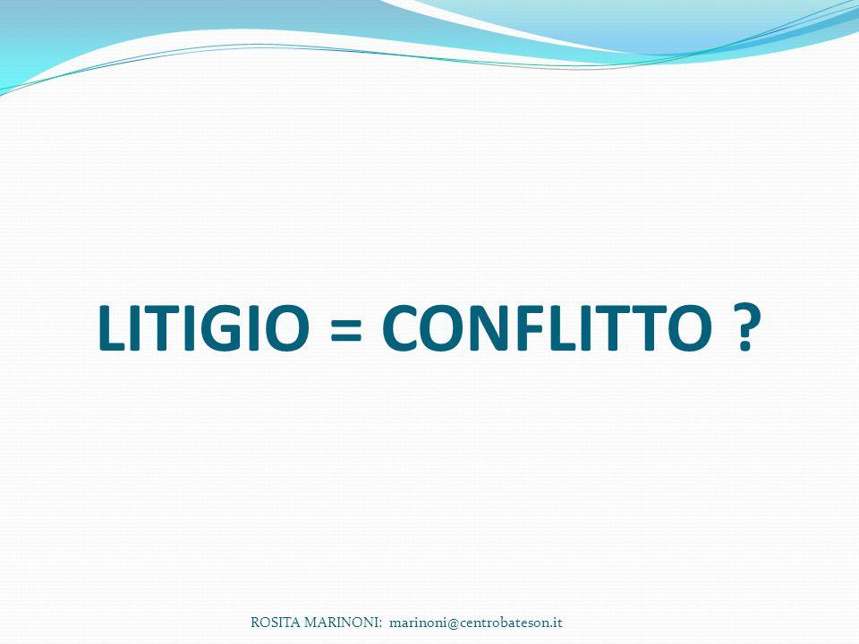 LITIGIO = CONFLITTO ROSITA MARINONI: marinoni@centrobateson.it