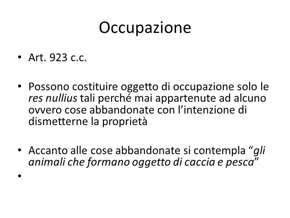 Occupazione Art. 923 c.c.