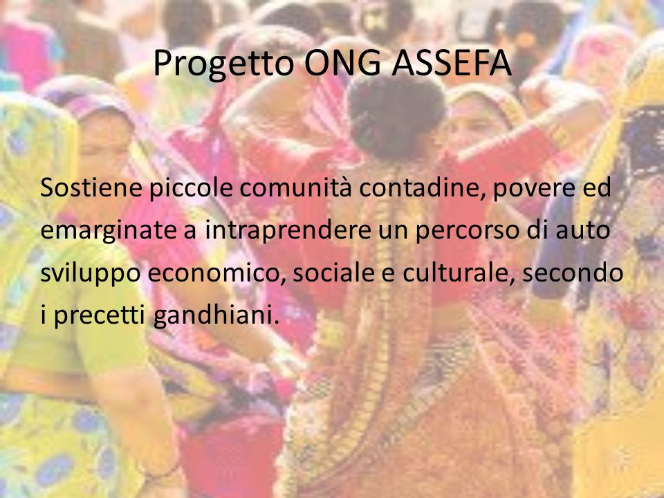 Progetto ONG ASSEFA