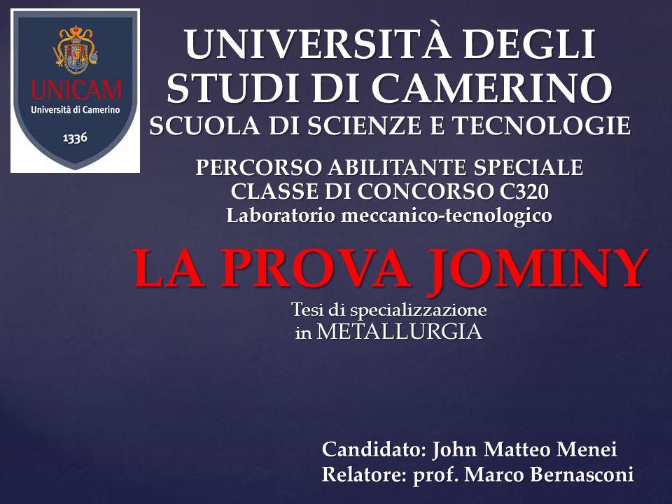 Candidato: John Matteo Menei Relatore: prof. Marco Bernasconi
