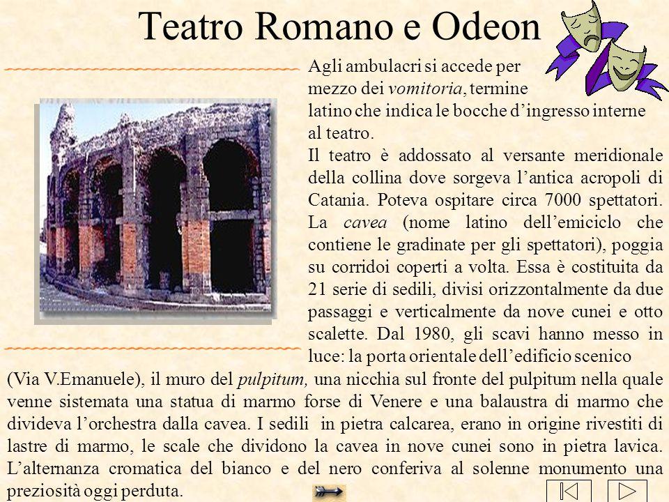 Teatro Romano e Odeon Agli ambulacri si accede per