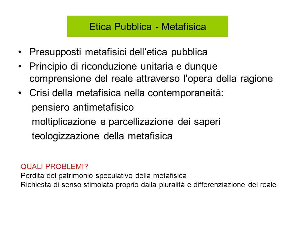 Etica Pubblica - Metafisica