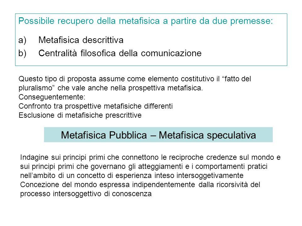Metafisica Pubblica – Metafisica speculativa