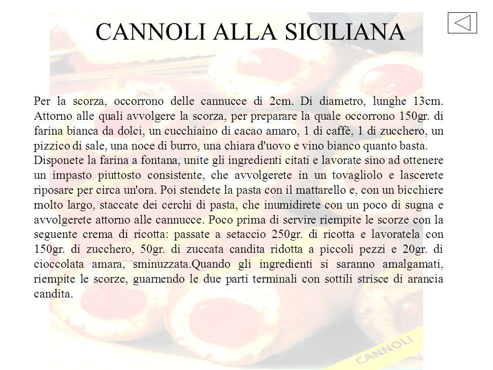 CANNOLI ALLA SICILIANA
