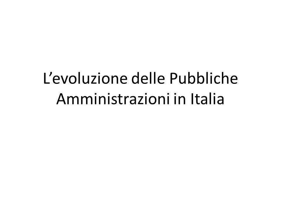 L'evoluzione delle Pubbliche Amministrazioni in Italia