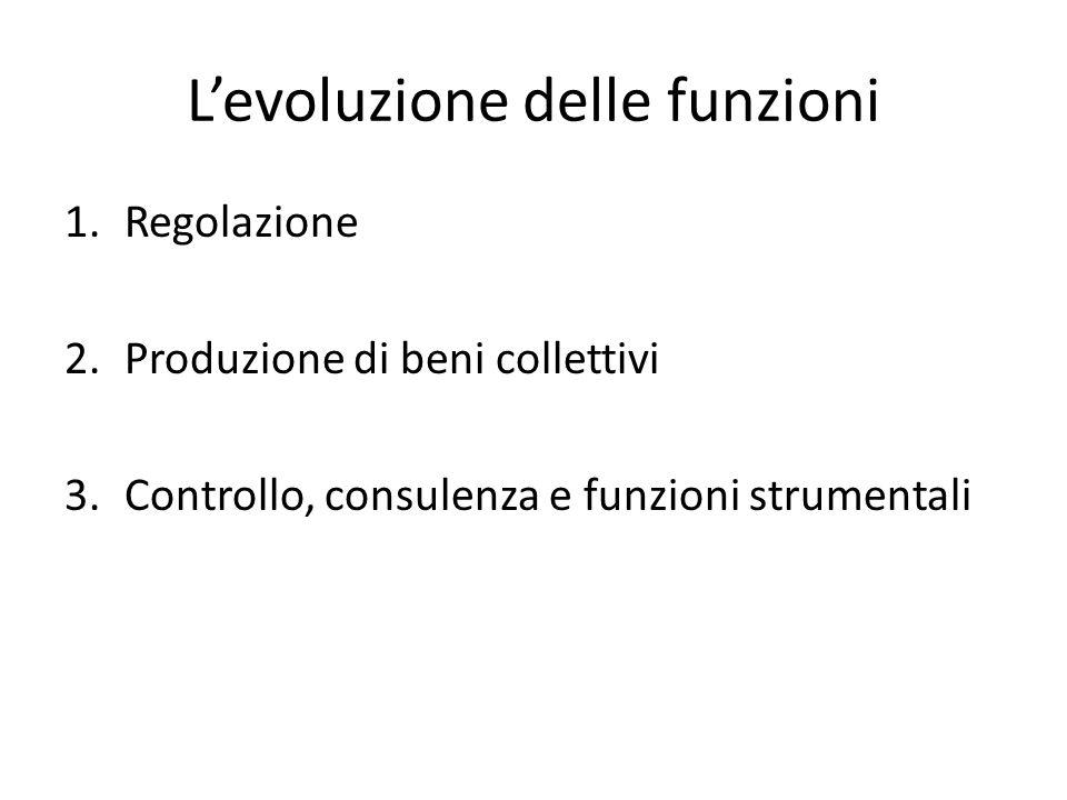 L'evoluzione delle funzioni