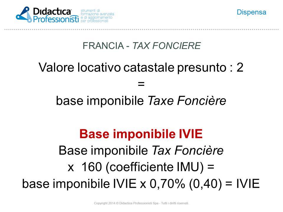 FRANCIA - TAX FONCIERE