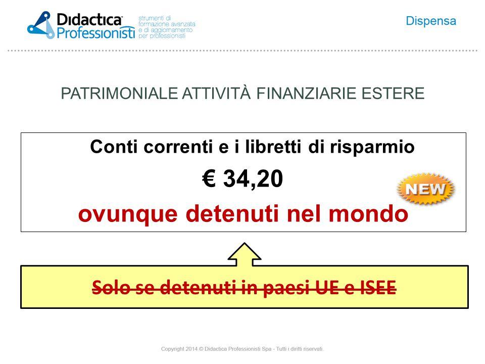 € 34,20 ovunque detenuti nel mondo