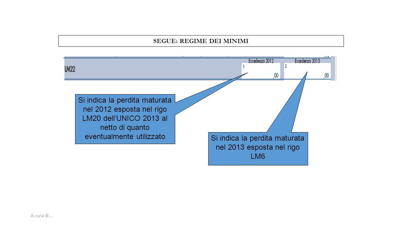 SEGUE: REGIME DEI MINIMI
