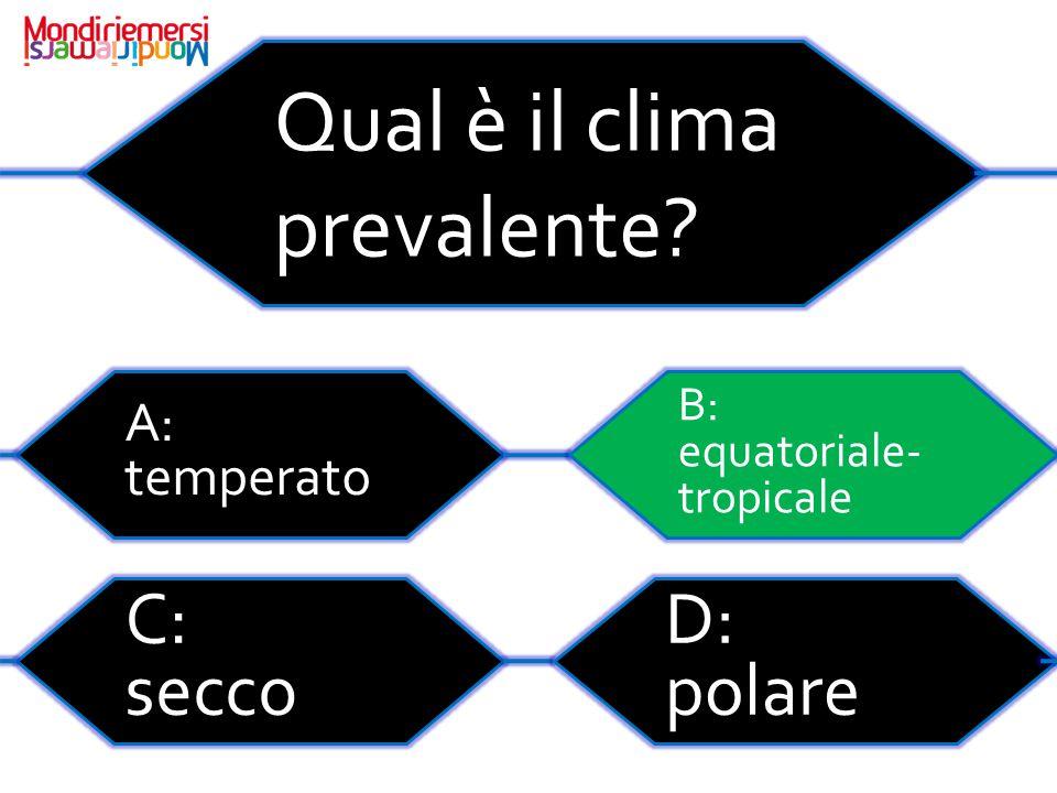 Qual è il clima prevalente