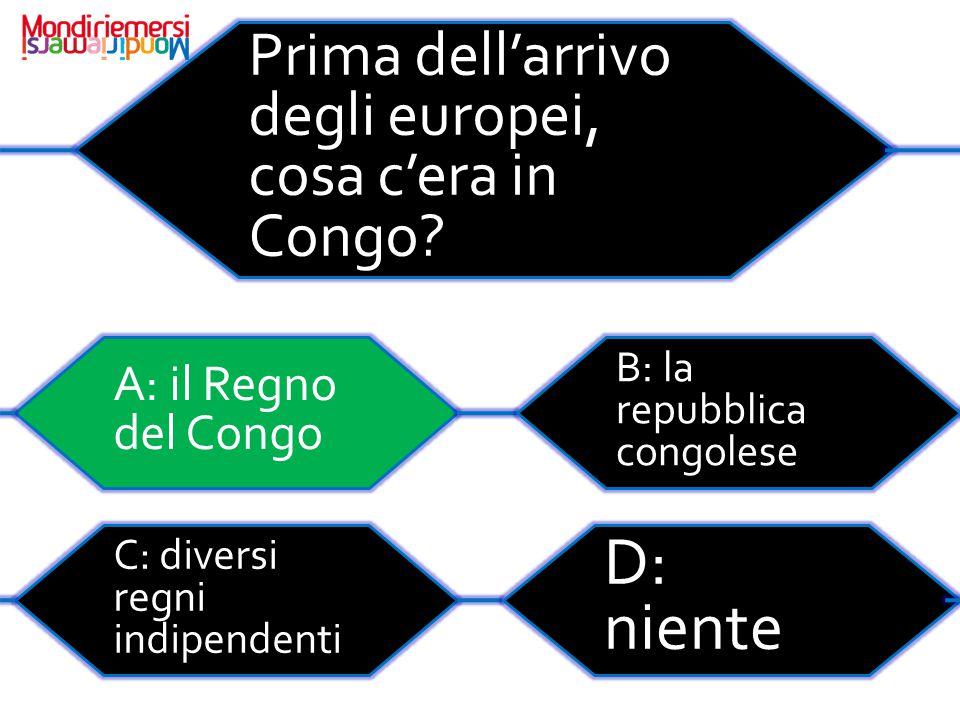 D: niente Prima dell'arrivo degli europei, cosa c'era in Congo