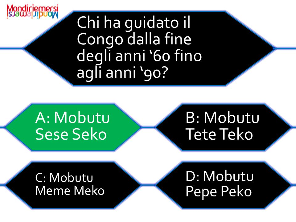 Chi ha guidato il Congo dalla fine degli anni '60 fino agli anni '90
