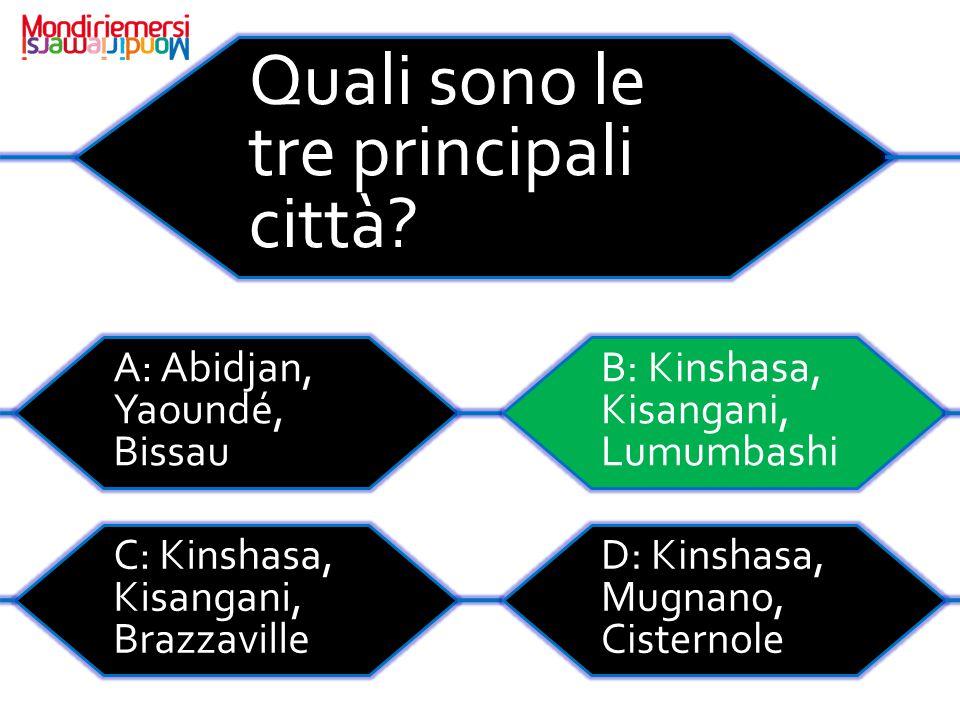 Quali sono le tre principali città