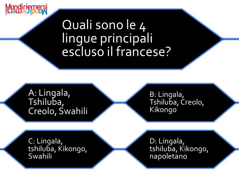 Quali sono le 4 lingue principali escluso il francese