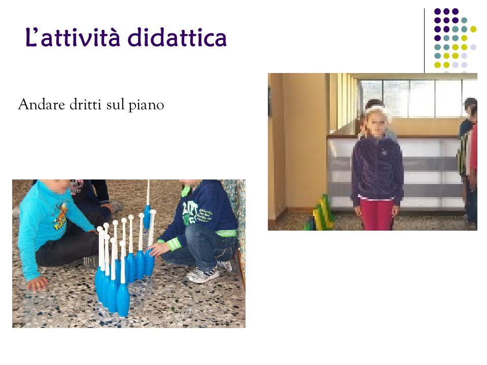 L'attività didattica Andare dritti sul piano 29 29