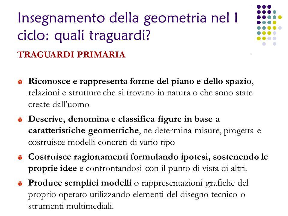 Insegnamento della geometria nel I ciclo: quali traguardi