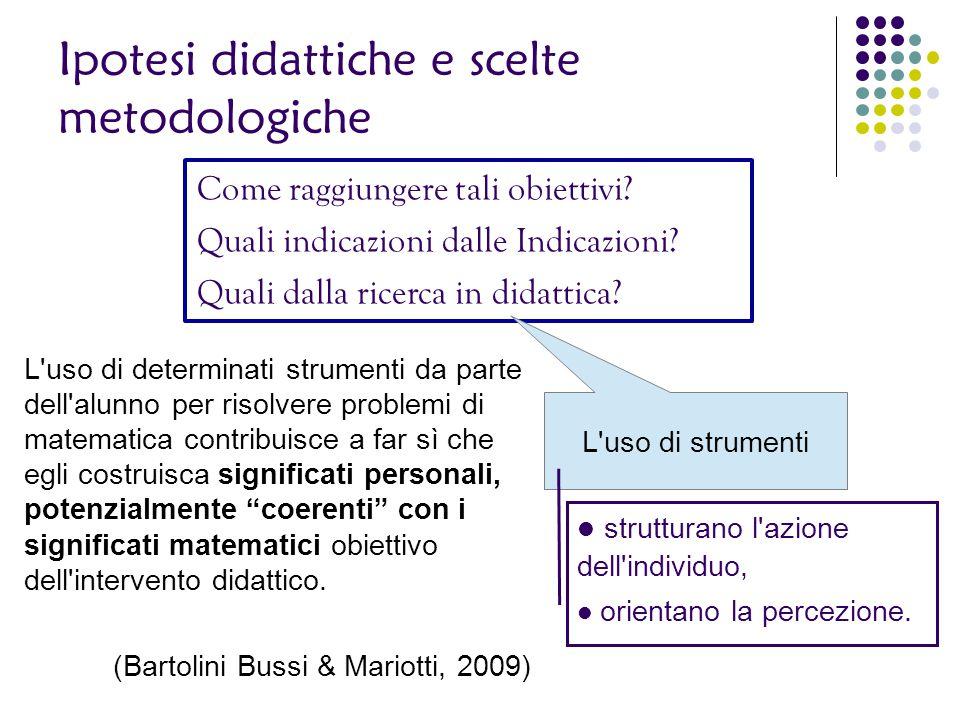 Ipotesi didattiche e scelte metodologiche