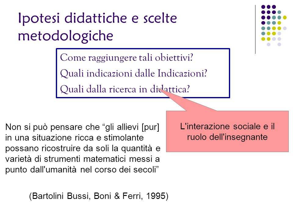 L interazione sociale e il ruolo dell insegnante