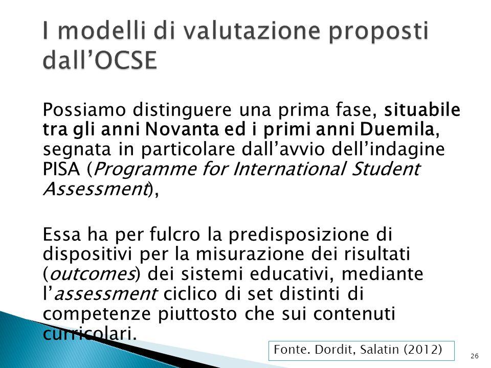 I modelli di valutazione proposti dall'OCSE