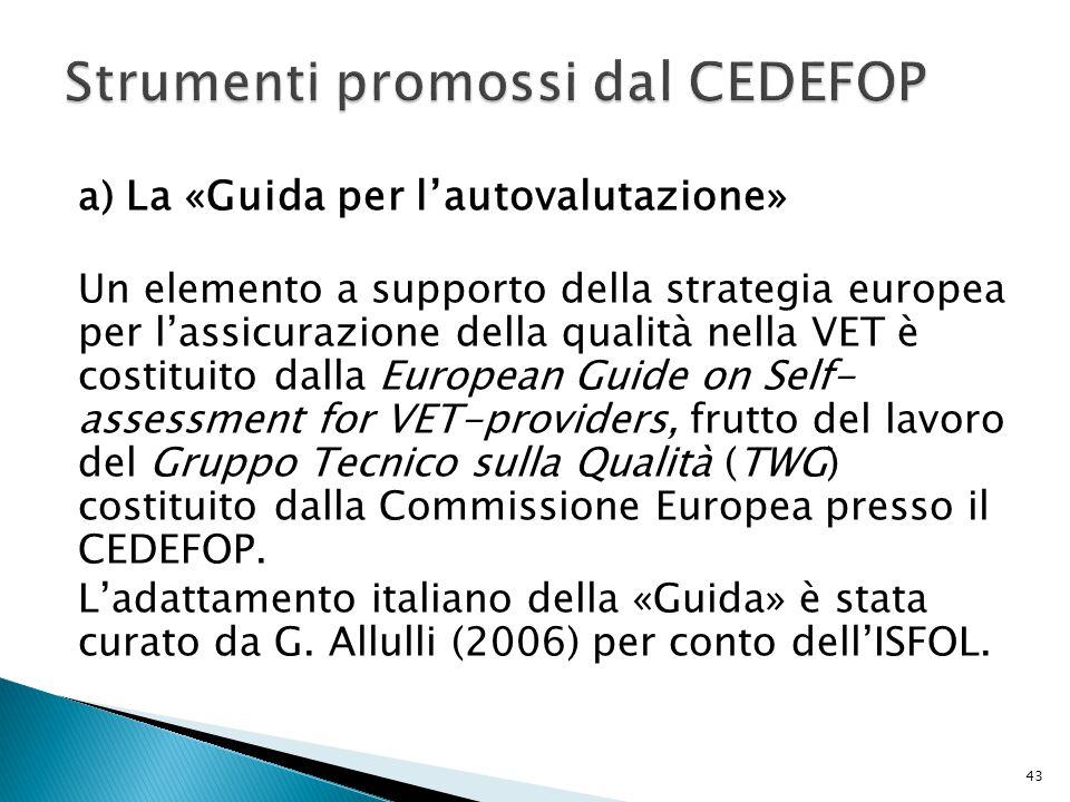 Strumenti promossi dal CEDEFOP