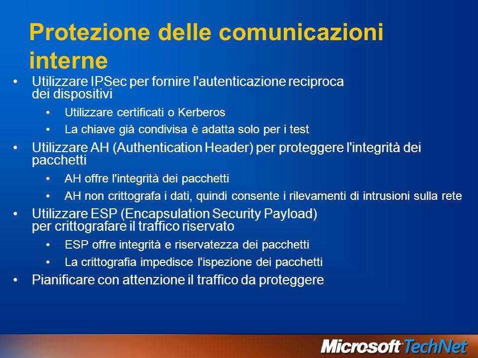 Protezione delle comunicazioni interne