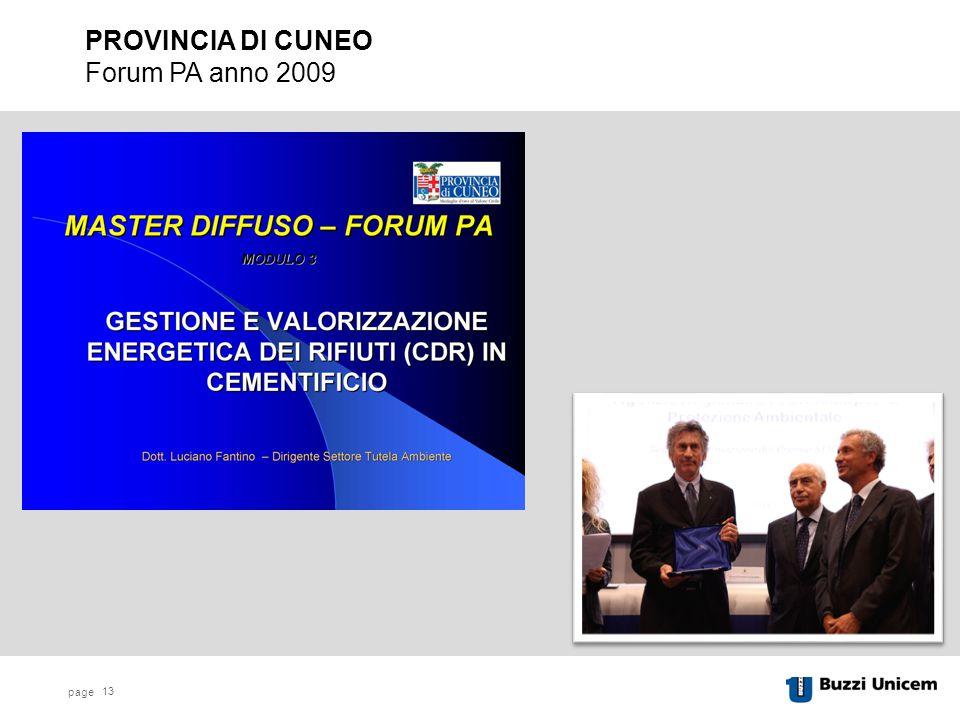 PROVINCIA DI CUNEO Forum PA anno 2009