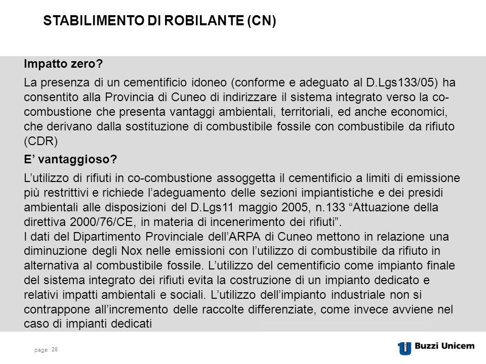 STABILIMENTO DI ROBILANTE (CN)