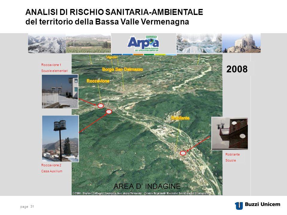 ANALISI DI RISCHIO SANITARIA-AMBIENTALE del territorio della Bassa Valle Vermenagna