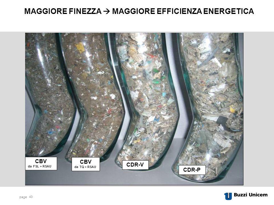 MAGGIORE FINEZZA  MAGGIORE EFFICIENZA ENERGETICA