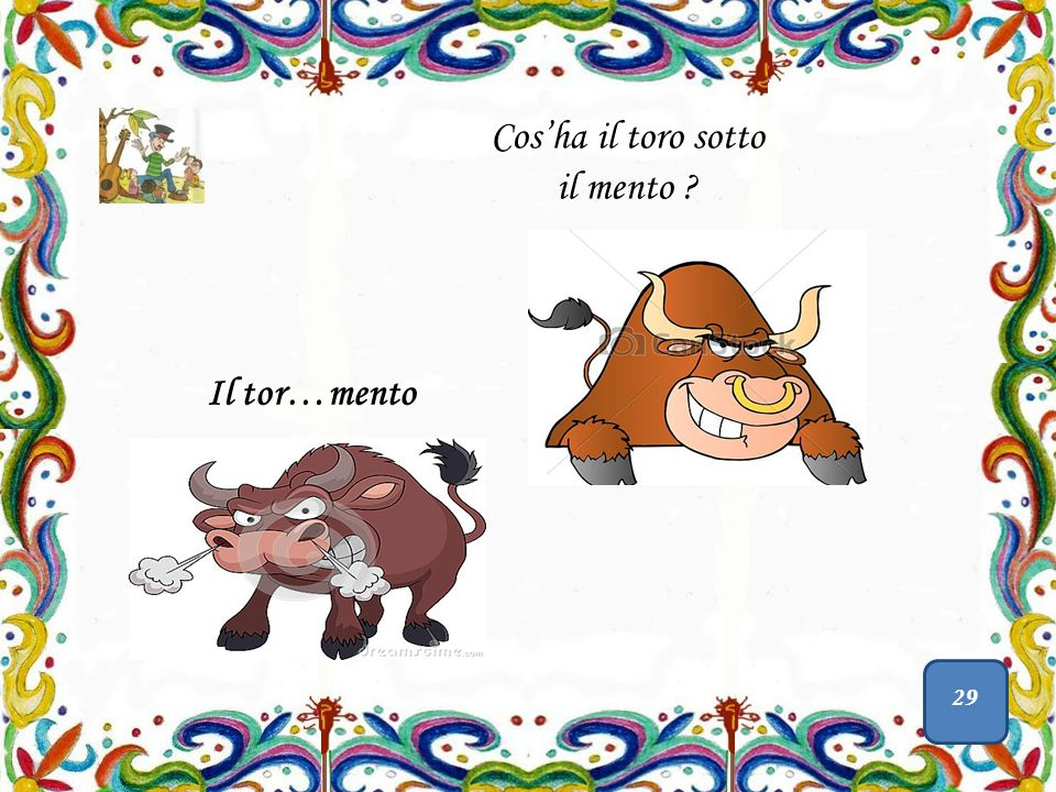 Cos'ha il toro sotto il mento