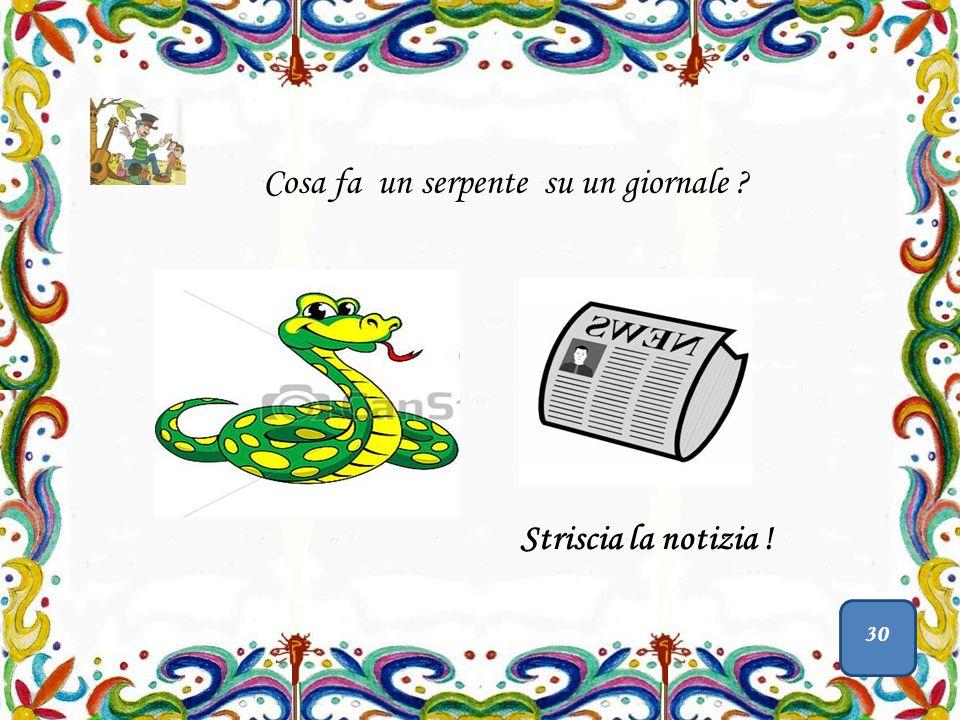 Cosa fa un serpente su un giornale