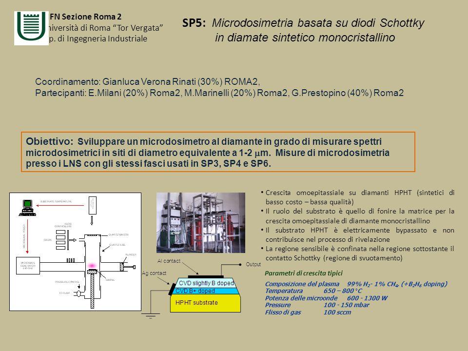 SP5: Microdosimetria basata su diodi Schottky