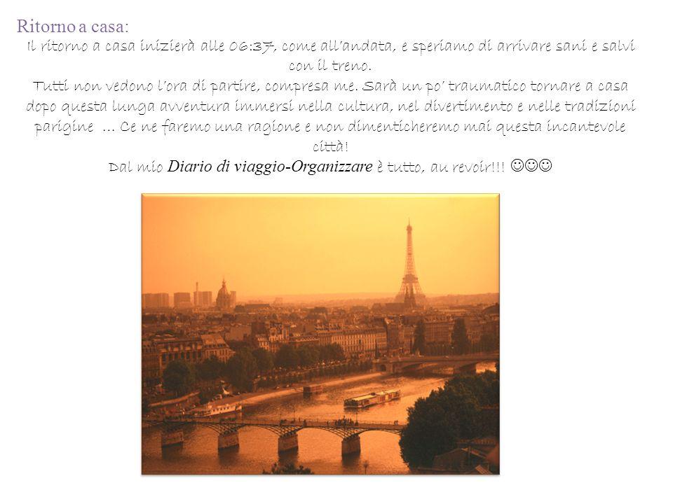 Dal mio Diario di viaggio-Organizzare è tutto, au revoir!!! 