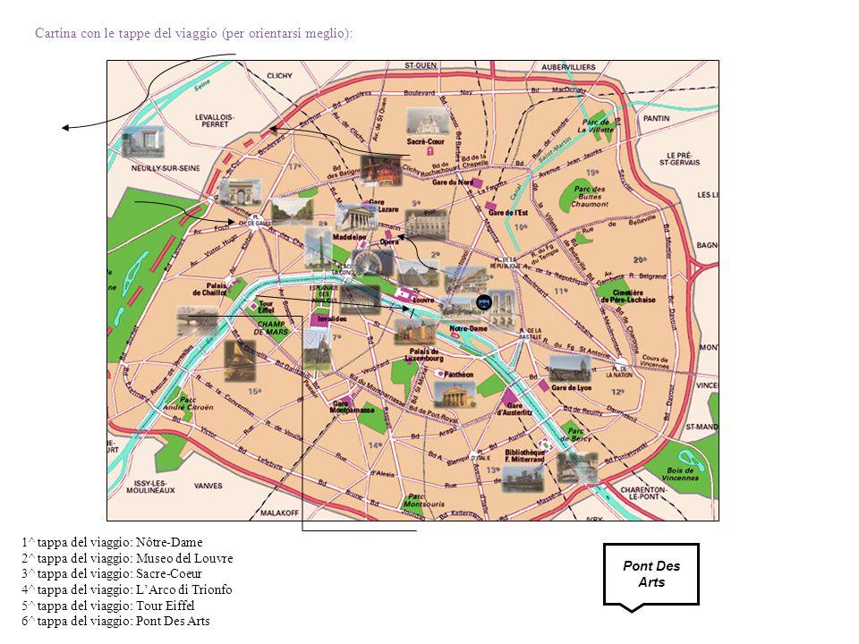 Cartina con le tappe del viaggio (per orientarsi meglio):